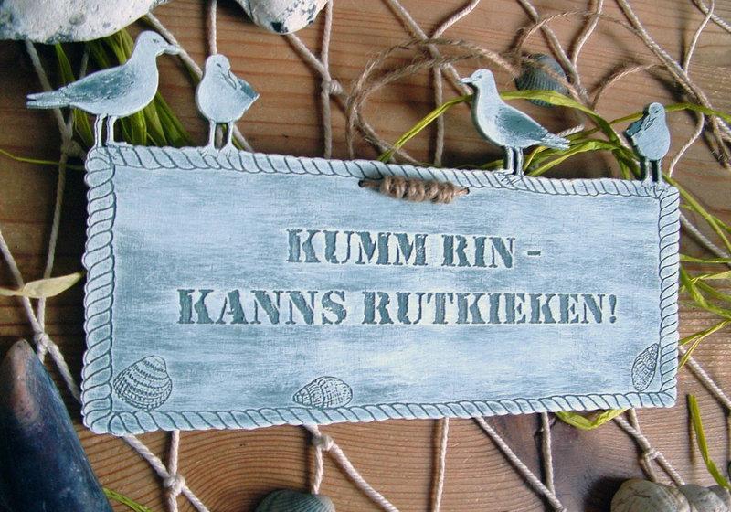 t rschild plattdeutsche spr che auch mit wunschgravur aus holz. Black Bedroom Furniture Sets. Home Design Ideas
