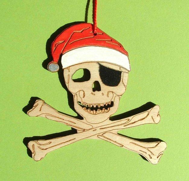 weihnachtsdeko piraten baumschmuck holz handbemalt l tte welt. Black Bedroom Furniture Sets. Home Design Ideas
