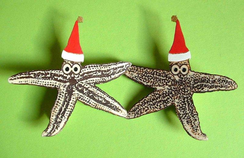 weihnachten maritim xmas seestern clips holz gravur. Black Bedroom Furniture Sets. Home Design Ideas