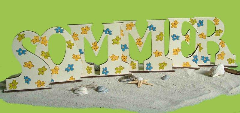 Fensterbank Holz Produktsuche ~ Sommer Buchstaben Dekoration Holz zum Aufstellen  Lütte Welt